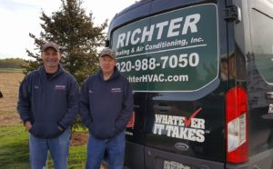 Richter employees by van